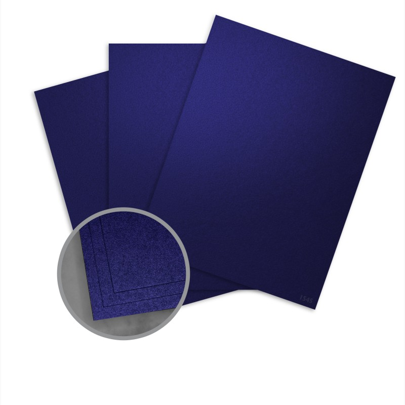 Elan Metallics Midnight Blue Card Stock - 12 x 12 in 111 lb Cover Metallic C/2S 25 per Package