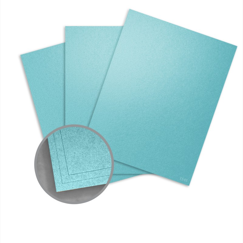 Elan Metallics Spectral Blue Paper - 8 1/2 x 11 in 70 lb Text Metallic C/2S 25 per Package