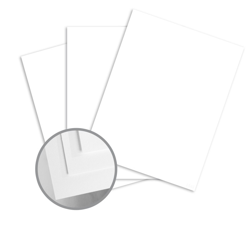 Finch Fine Opaque Bright White Card Stock - 8 1/2 x 11 in 65 lb Cover Smooth 250 per Package