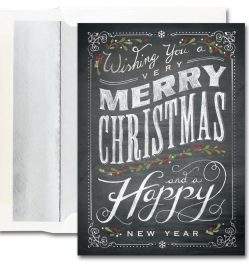 Chalkboard Merry Christmas Cards