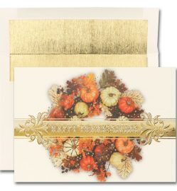 Colorful Wreath Thanksgiving Cards