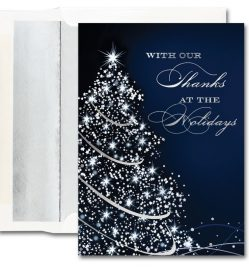 Starry Blue Holiday Cards