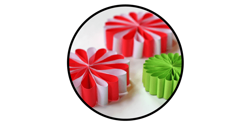 paper christmas ornaments starburst snowflakes