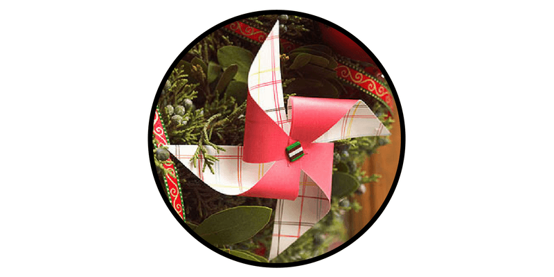 paper christmas ornaments paper pinwheels