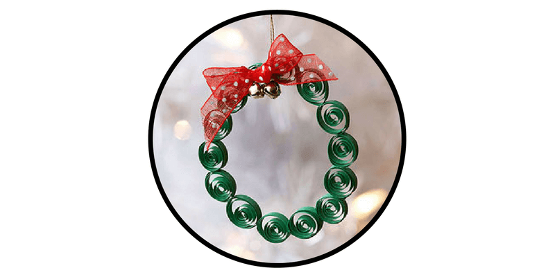 paper christmas ornaments quilled wreath