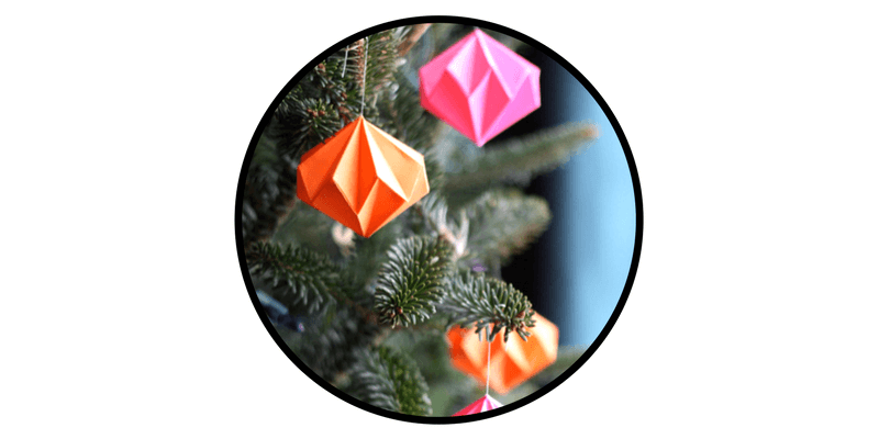 paper christmas ornaments paper gems