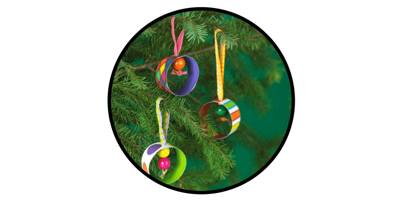 paper christmas ornaments circles rings