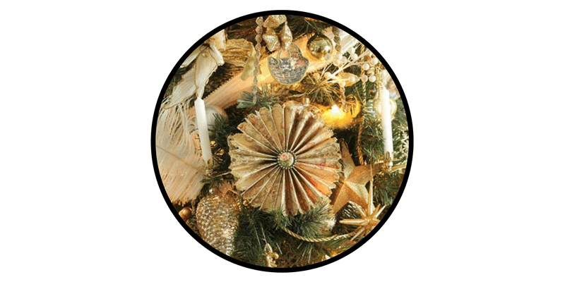 paper christmas ornaments victorian paper fans