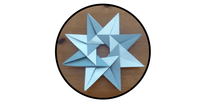 paper christmas ornaments origami stars