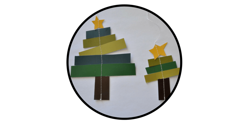paper christmas ornaments paper strip christmas trees