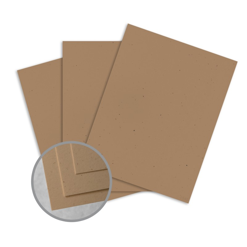 Royal Sundance Kraft Card Stock - 8 1/2 x 11 in 80 lb Cover Smooth Fiber 30% Recycled 250 per Package