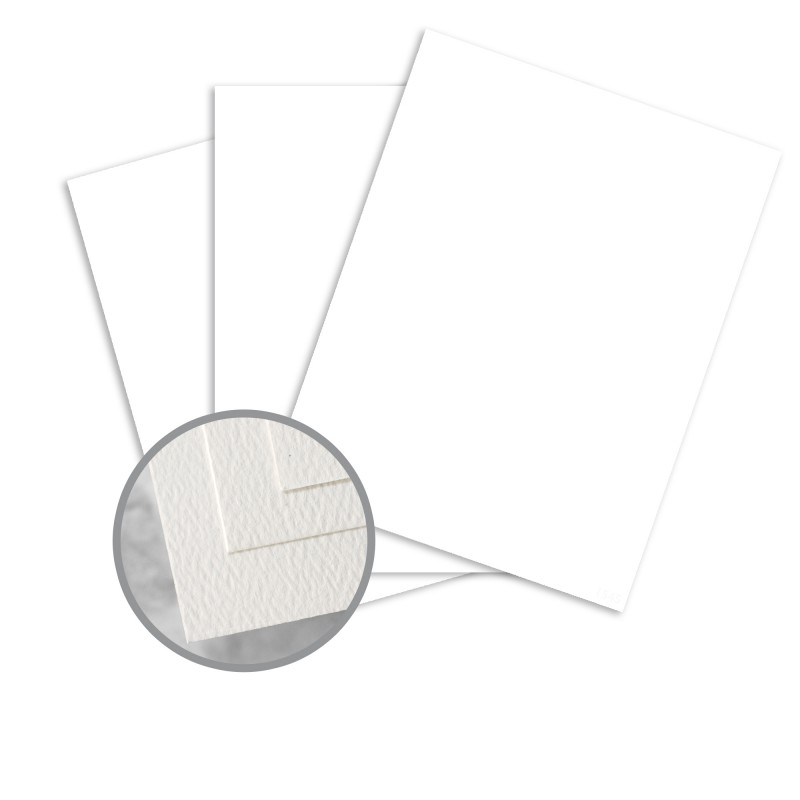 Via Felt Cool White Card Stock - 8 1/2 x 11 in 80 lb Cover Felt 30% Recycled 250 per Package