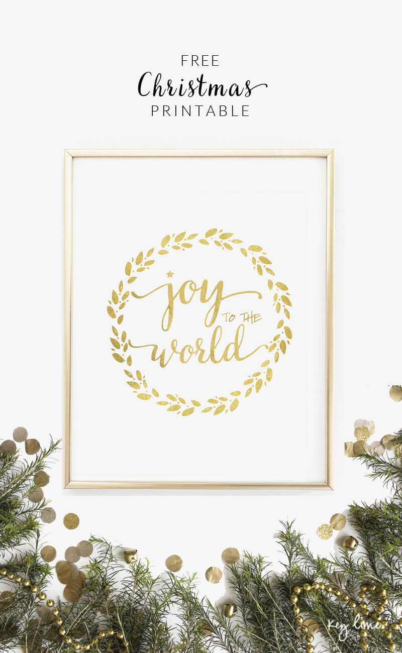 last minute christmas printables joy to the world lil luna