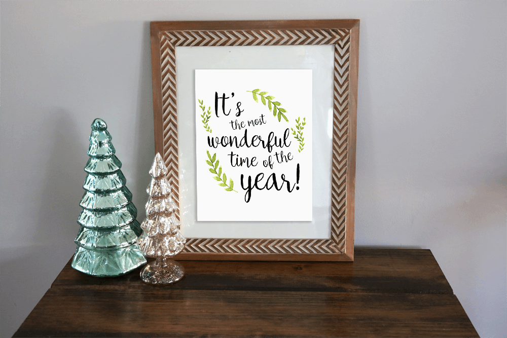 last minute printables christmas hand lettered sentiment