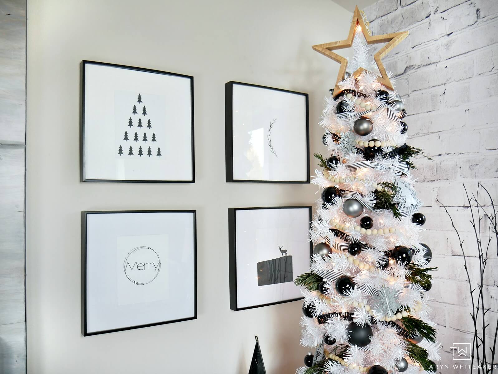 last minute christmas printables black white taryn whiteaker