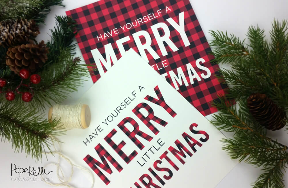 last minute christmas printables buffalo check classy clutter