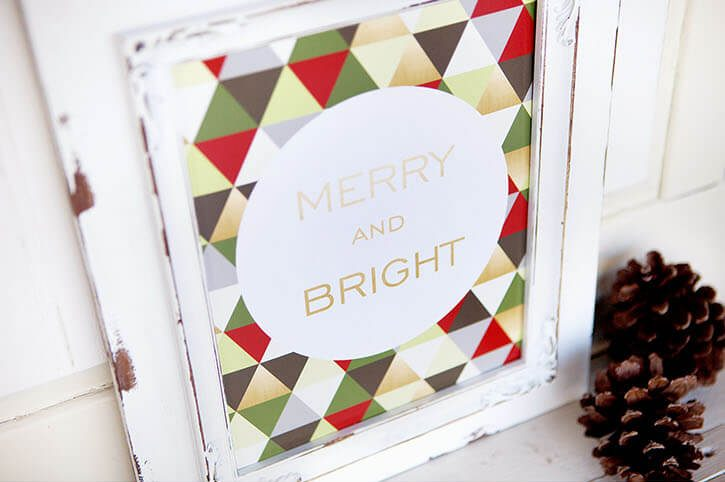 last minute christmas printables geometric simple as that