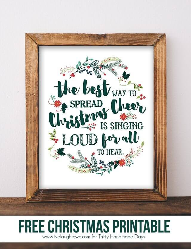 last minute christmas printables cheer thirty handmade days