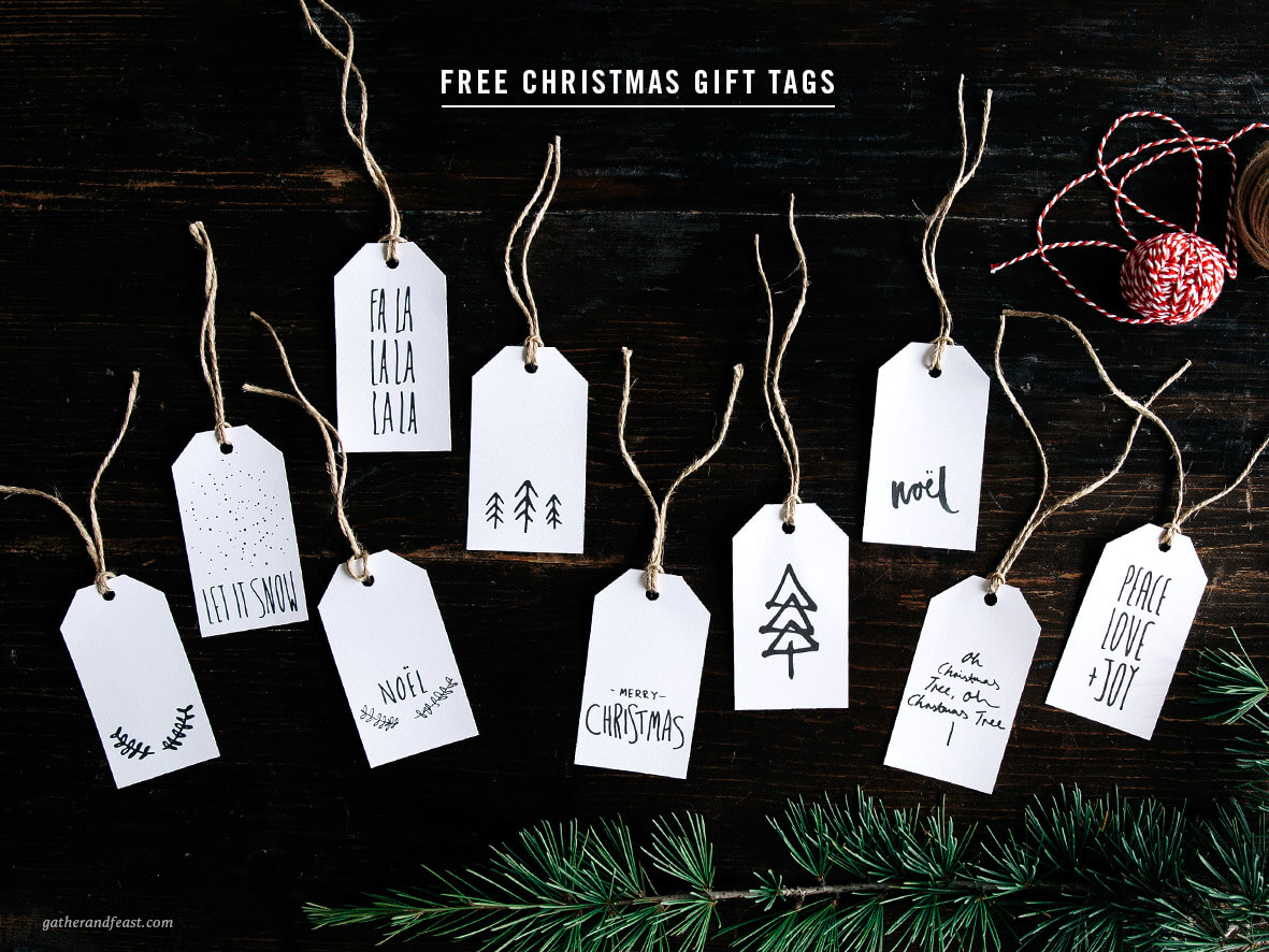 last minute christmas printables black white gather feast