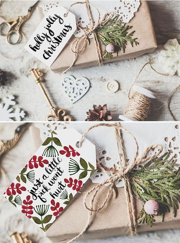 last minute christmas printables watercolor floral tag dawn nicole designs