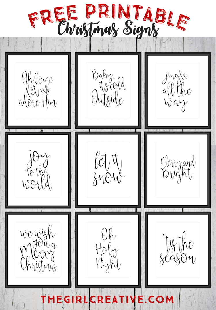 Have Yourself 25 Merry Little Printables Last Minute