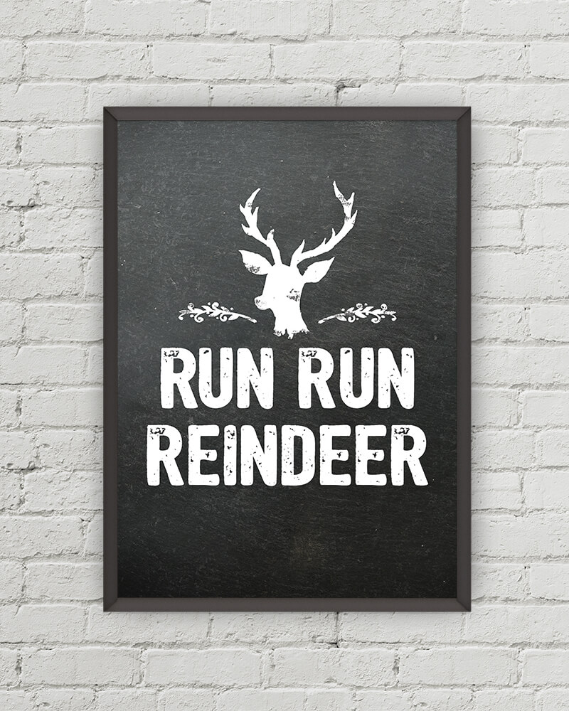 last minute christmas printables run reindeer little gold pixel