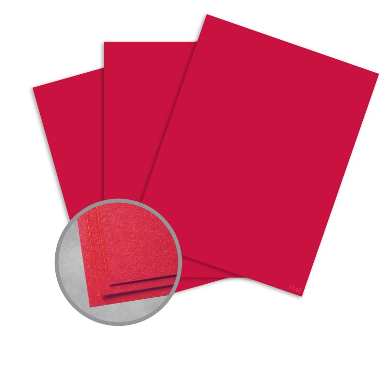 Astrobrights Re-Entry Red Card Stock - 8 1/2 x 11 in 65 lb Cover Smooth 30% Recycled 250 per Package