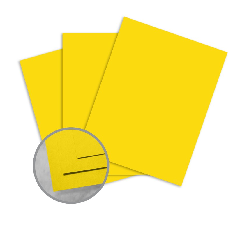 Astrobrights Solar Yellow Card Stock - 8 1/2 x 11 in 80 lb Cover Smooth 250 per Package