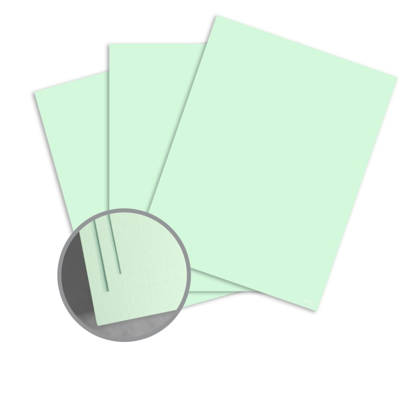 ColorMates Smooth & Silky Green Card Stock - 8 1/2 x 11 in 90 lb Cover Smooth 250 per Package