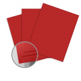 ColorMates Smooth & Silky Apple Red Card Stock 8.5 x 11 80 lb cover Uncoated Smooth