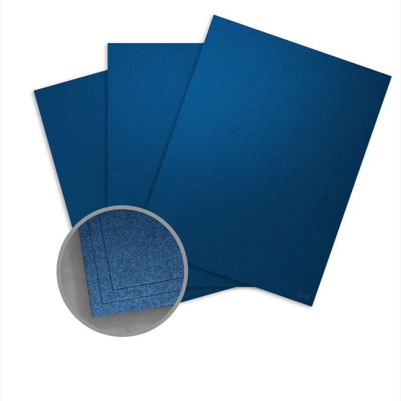 Elan Metallics Sapphire Card Stock - 8 1/2 x 11 in 107 lb Cover Metallic C/2S 25 per Package