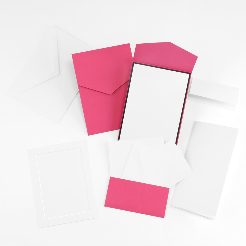 Fine Impressions Fuchsia Smooth Vellum Pocket Invitation Ensemble