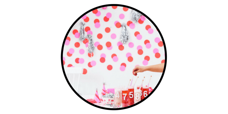 nye new years eve decorations activities paper stitch polka dot backdrop astrobrights