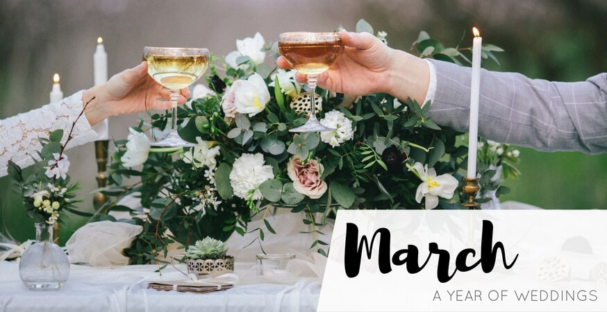 year of weddings guide month march