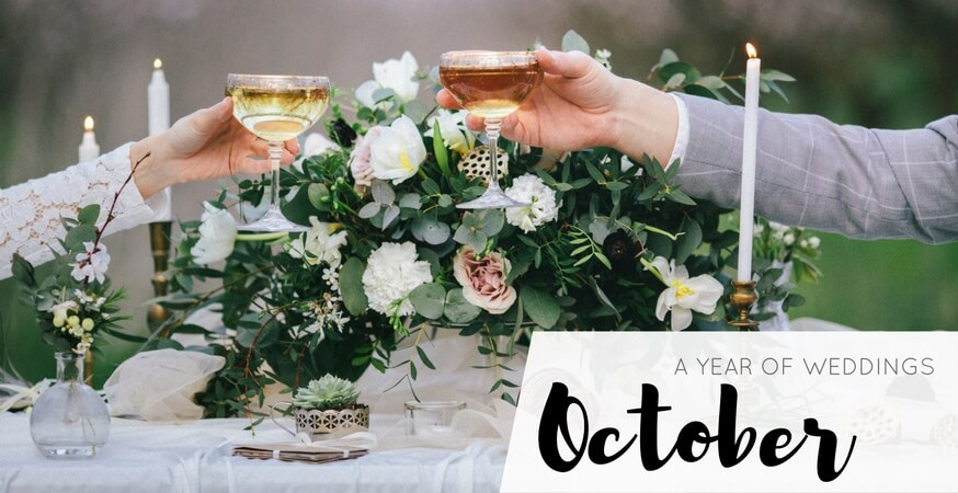 year of weddings month october