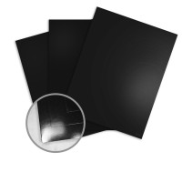 JAZZ High Gloss Black Paper - 8 1/2 x 11 in 12 pt Cover 25 per Package