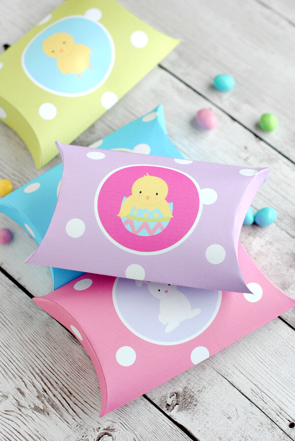 easter paper crafts decorations pillow boxes crazy little projects