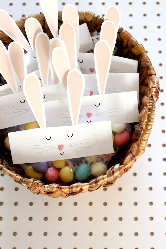 easter paper crafts decorations bunny bag toppers minted