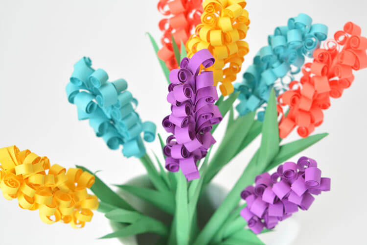 easter paper crafts decorations hyacinth flowers one little project