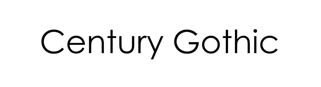 best typefaces print century gothic