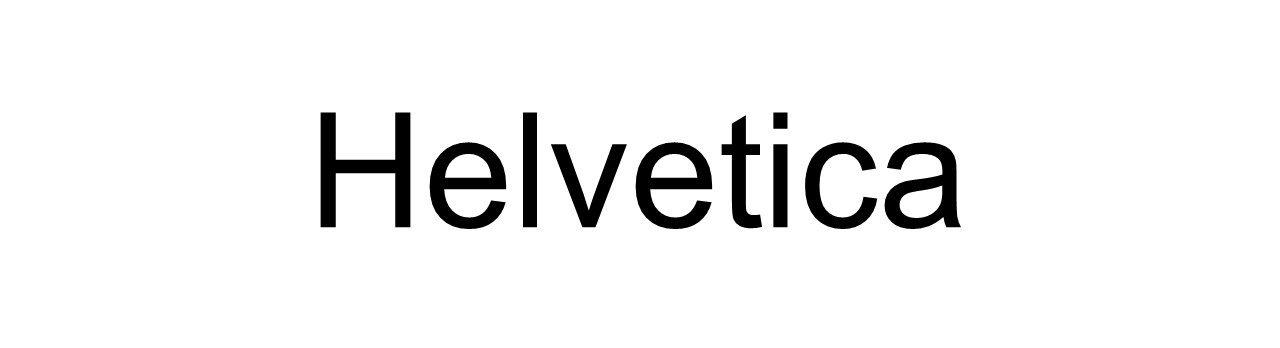 best typefaces print helvetica
